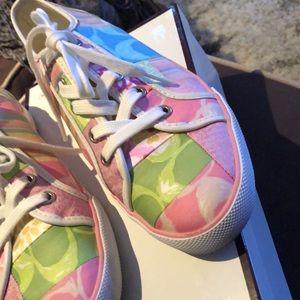 Coach Shoes - Adorable Coach patchwork sneakers